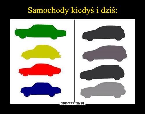 Samochody kiedyś i dziś: