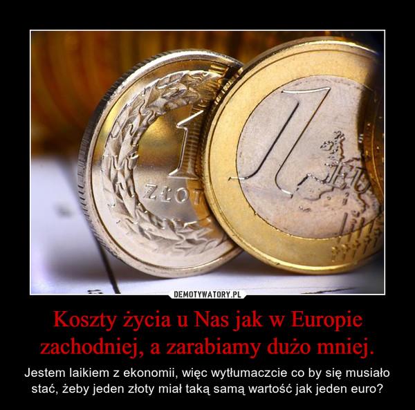 Koszty życia u Nas jak w Europie zachodniej, a zarabiamy dużo mniej. – Jestem laikiem z ekonomii, więc wytłumaczcie co by się musiało stać, żeby jeden złoty miał taką samą wartość jak jeden euro?