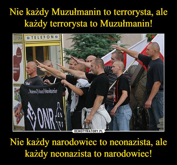 Nie każdy narodowiec to neonazista, ale każdy neonazista to narodowiec! –