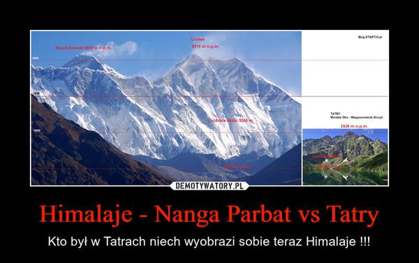 Himalaje - Nanga Parbat vs Tatry – Kto był w Tatrach niech wyobrazi sobie teraz Himalaje !!!