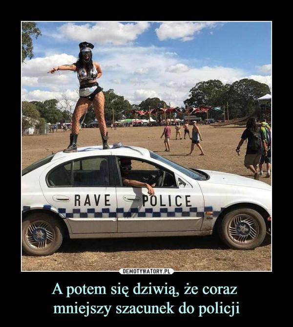 A potem się dziwią, że coraz mniejszy szacunek do policji –