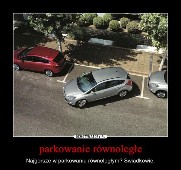 parkowanie równoległe – Najgorsze w parkowaniu równoległym? Świadkowie.