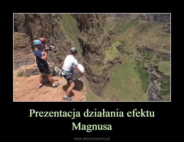 Prezentacja działania efektu Magnusa –