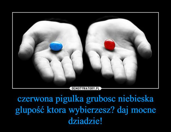 czerwona pigulka grubosc niebieska glupość ktora wybierzesz? daj mocne dziadzie! –