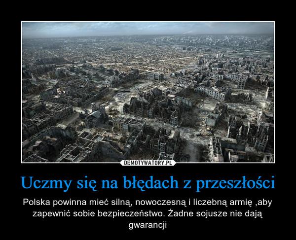 Uczmy się na błędach z przeszłości – Polska powinna mieć silną, nowoczesną i liczebną armię ,aby zapewnić sobie bezpieczeństwo. Żadne sojusze nie dają gwarancji