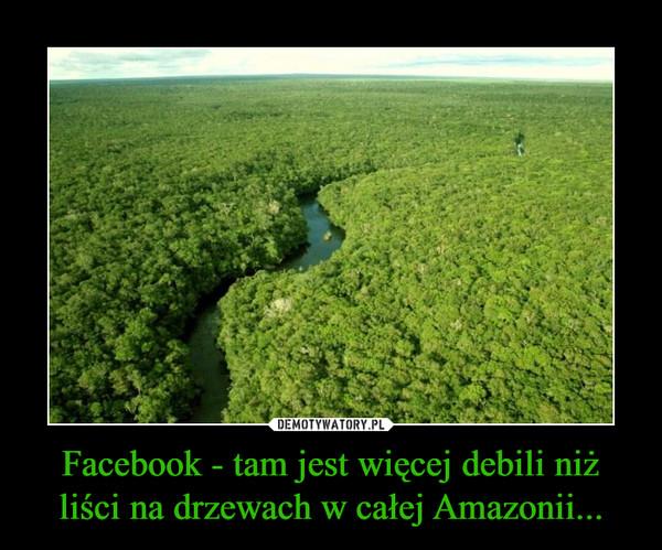 Facebook - tam jest więcej debili niż liści na drzewach w całej Amazonii... –