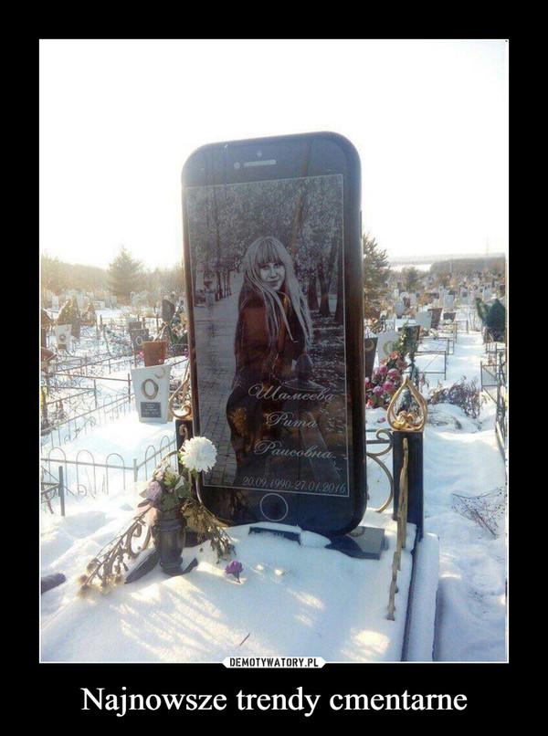 Najnowsze trendy cmentarne –