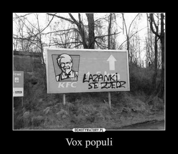 Vox populi –
