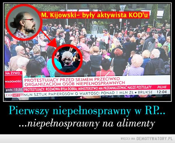 Pierwszy niepełnosprawny w Polsce –