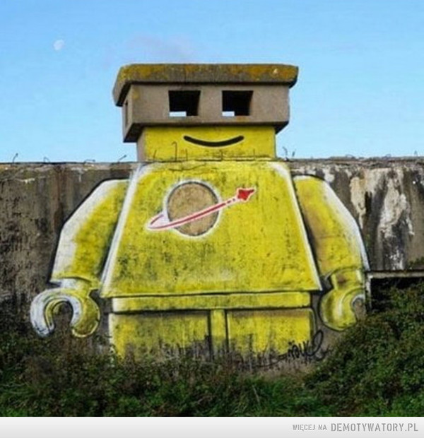 Street-artowe Lego –