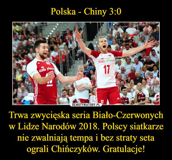 Trwa zwycięska seria Biało-Czerwonych w Lidze Narodów 2018. Polscy siatkarze nie zwalniają tempa i bez straty seta ograli Chińczyków. Gratulacje! –