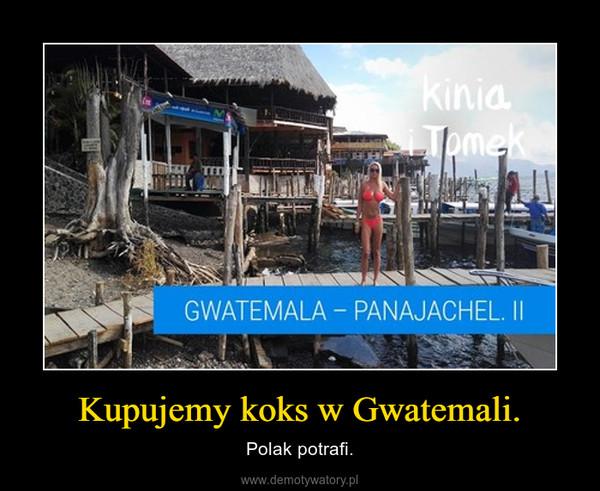 Kupujemy koks w Gwatemali. – Polak potrafi.