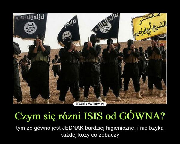 Czym się różni ISIS od GÓWNA? – tym że gówno jest JEDNAK bardziej higieniczne, i nie bzyka każdej kozy co zobaczy