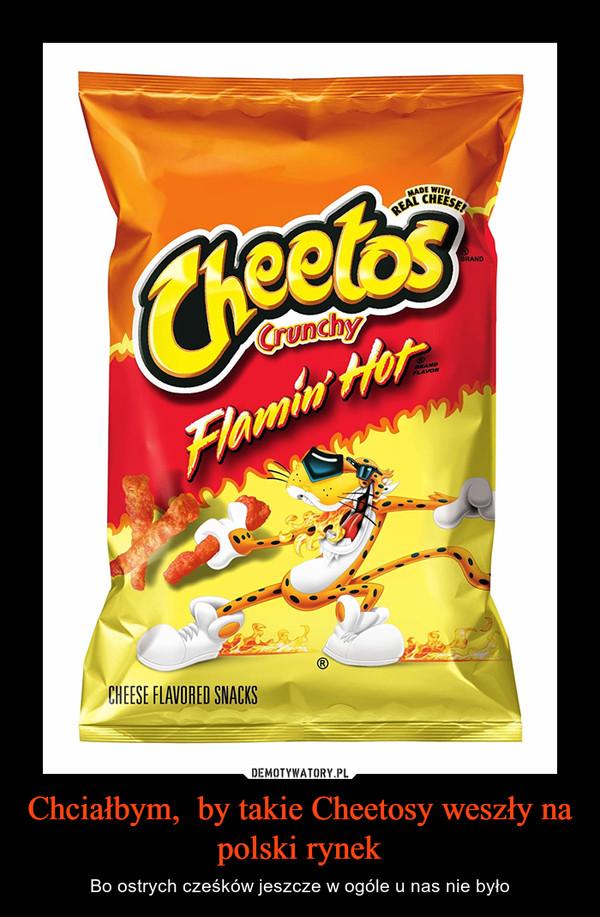 Chciałbym,  by takie Cheetosy weszły na polski rynek – Bo ostrych cześków jeszcze w ogóle u nas nie było