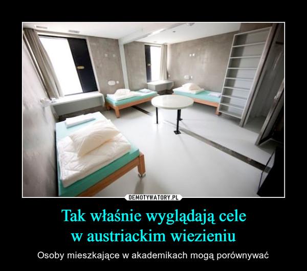 Tak właśnie wyglądają celew austriackim wiezieniu – Osoby mieszkające w akademikach mogą porównywać
