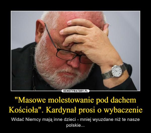"""""""Masowe molestowanie pod dachem Kościoła"""". Kardynał prosi o wybaczenie – Widać Niemcy mają inne dzieci - mniej wyuzdane niż te nasze polskie..."""