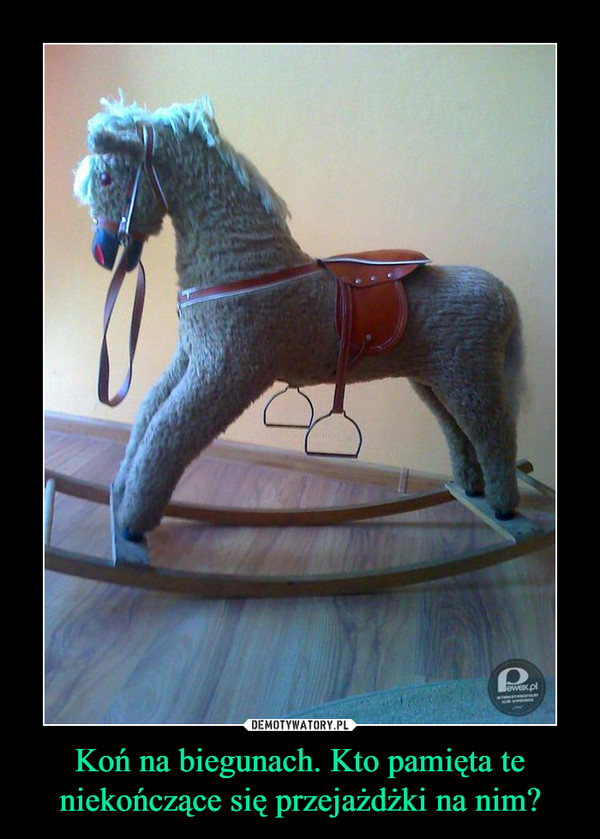 Koń na biegunach. Kto pamięta te niekończące się przejażdżki na nim? –