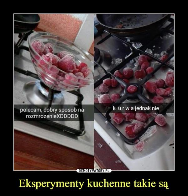 Eksperymenty kuchenne takie są –  polecam, dobry sposob na rozmrozenieXDDDDD k urwa jednak nie