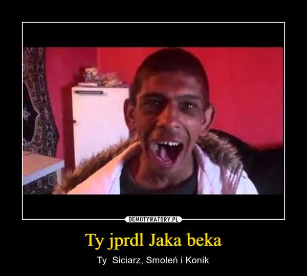 Ty jprdl Jaka beka – Ty  Siciarz, Smoleń i Konik