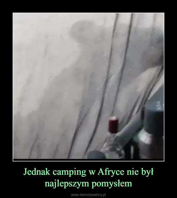 Jednak camping w Afryce nie był najlepszym pomysłem –