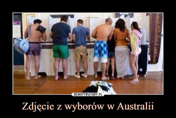 Zdjęcie z wyborów w Australii –