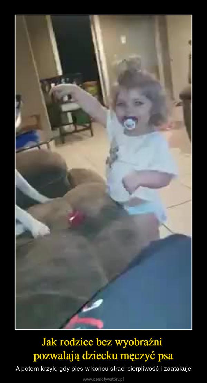 Jak rodzice bez wyobraźni pozwalają dziecku męczyć psa – A potem krzyk, gdy pies w końcu straci cierpliwość i zaatakuje