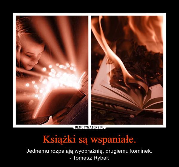 Książki są wspaniałe. – Jednemu rozpalają wyobraźnię, drugiemu kominek.- Tomasz Rybak