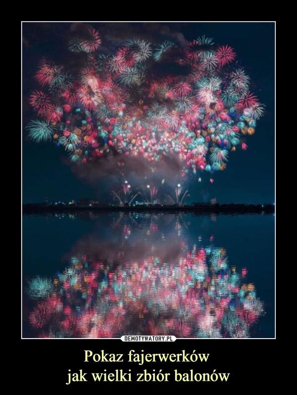 Pokaz fajerwerków jak wielki zbiór balonów –