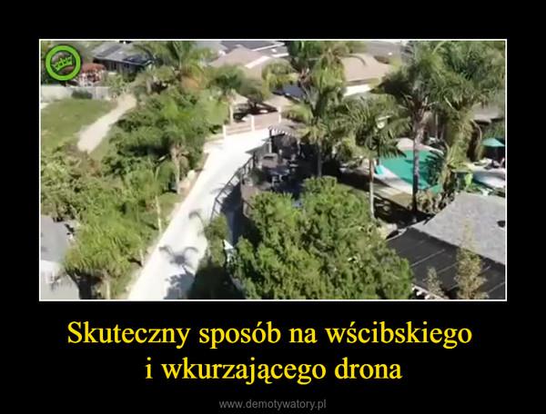Skuteczny sposób na wścibskiego i wkurzającego drona –