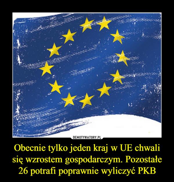 Obecnie tylko jeden kraj w UE chwali się wzrostem gospodarczym. Pozostałe 26 potrafi poprawnie wyliczyć PKB –