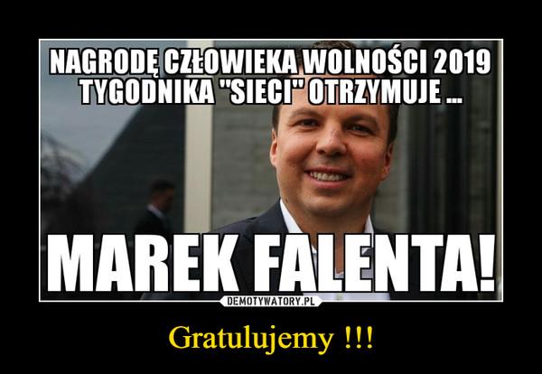 Gratulujemy !!! –