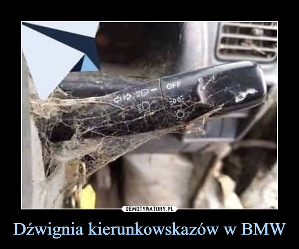 Dźwignia kierunkowskazów w BMW –