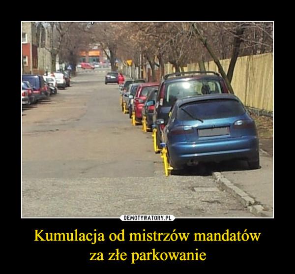 Kumulacja od mistrzów mandatówza złe parkowanie –