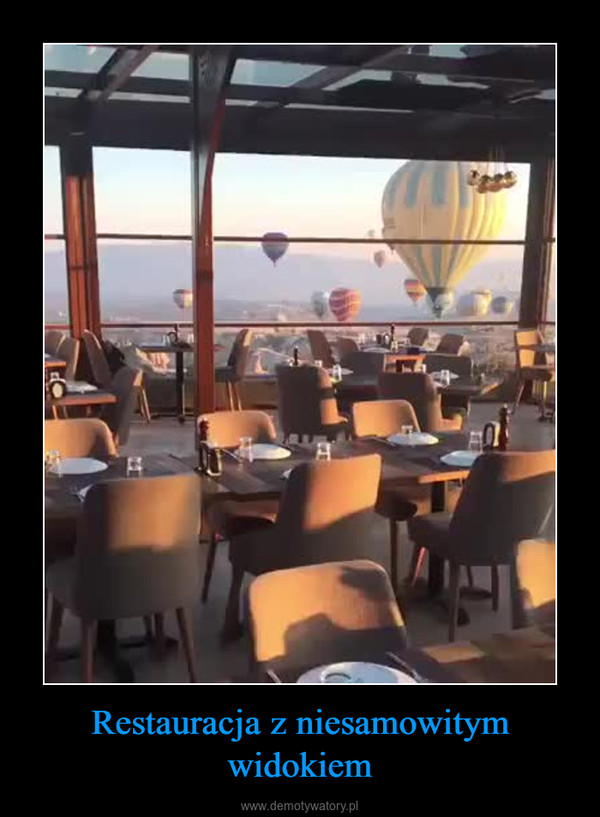 Restauracja z niesamowitym widokiem –