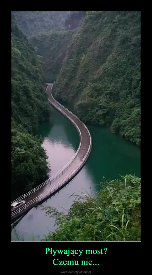 Pływający most?Czemu nie... –