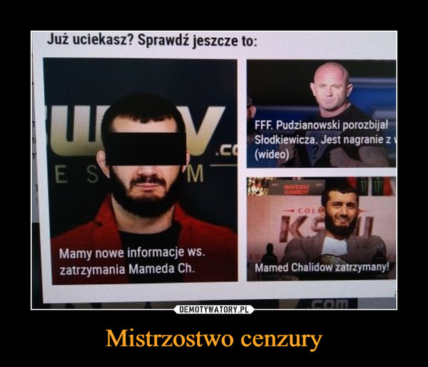 Mistrzostwo cenzury –