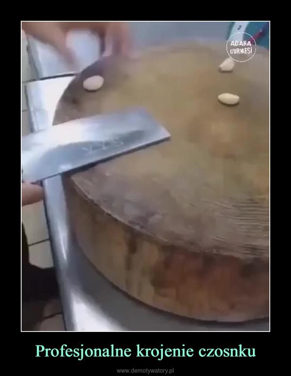 Profesjonalne krojenie czosnku –