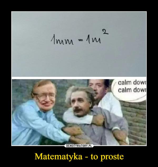 Matematyka - to proste –