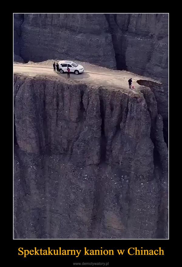Spektakularny kanion w Chinach –