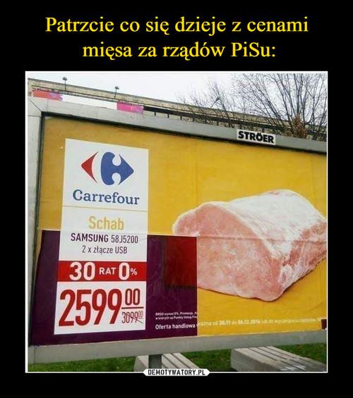 Patrzcie co się dzieje z cenami  mięsa za rządów PiSu: