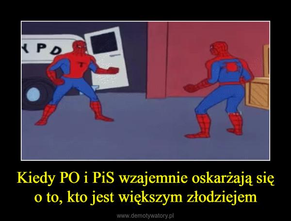 Kiedy PO i PiS wzajemnie oskarżają się o to, kto jest większym złodziejem –