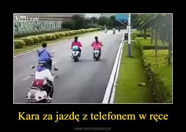 Kara za jazdę z telefonem w ręce –