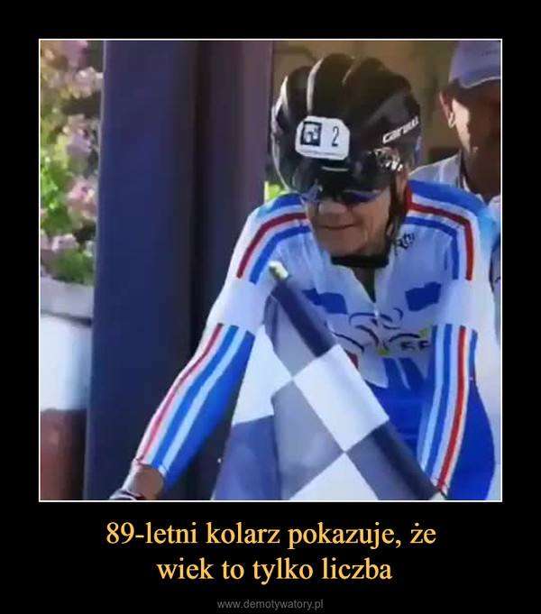 89-letni kolarz pokazuje, że wiek to tylko liczba –