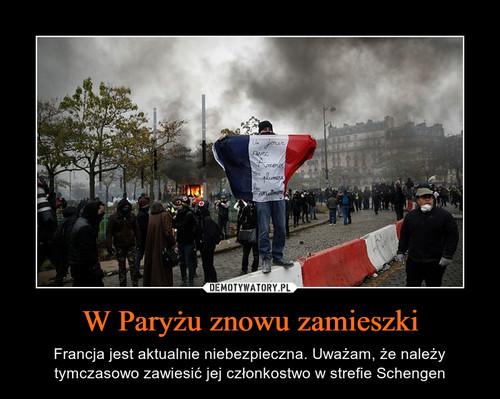 W Paryżu znowu zamieszki