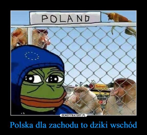 Polska dla zachodu to dziki wschód –