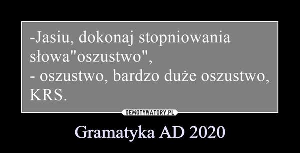 Gramatyka AD 2020 –