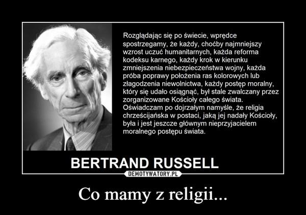 Co mamy z religii... –