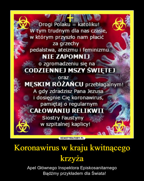Koronawirus w kraju kwitnącego krzyża