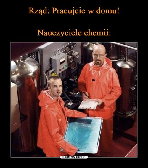 Rząd: Pracujcie w domu!  Nauczyciele chemii: