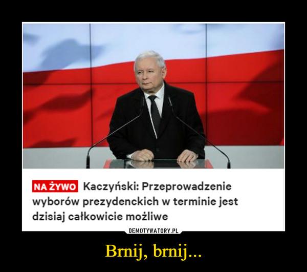 Brnij, brnij... –  NA ŻYWOKaczyński: Przeprowadzeniewyborów prezydenckich w terminie jestdzisiaj całkowicie możliwe